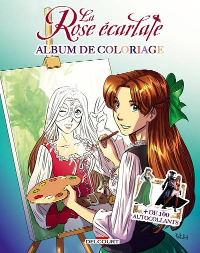 ROSE ECARLATE: ALBUM DE COLORIAGE