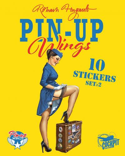 PIN-UP WINGS: POCHETTE DE STICKERS – PIN-UP / AVIONS – 1