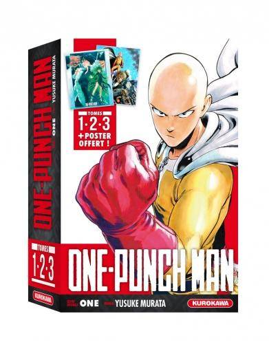 ONE-PUNCH MAN: COFFRET – TOMES 1-2-3 + POSTER